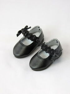"Black Lace And Pearls Dress Shoes Fits Wellie Wisher 14.5/"" American Girl Shoes"