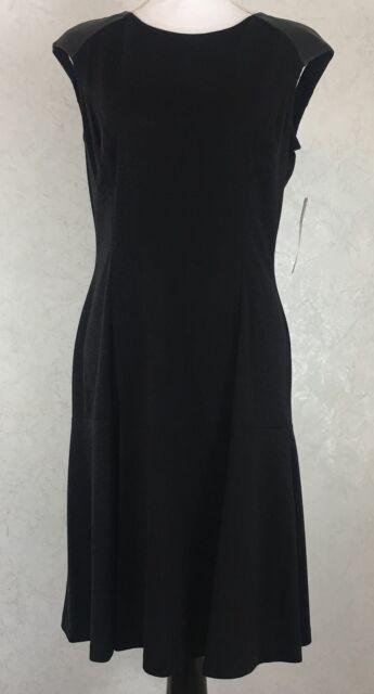Women's Lauren Ralph Lauren Black Sleeveless Dress Size 12 NWT $159 New