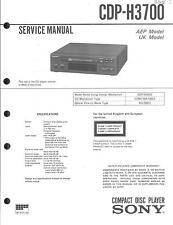 Sony Original Service Manual für CDP-H 3700