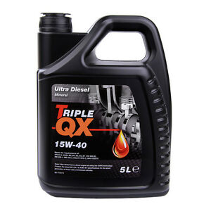 Triple-QX-Ultra-Diesel-15W40-Mineral-Multigrade-Car-Engine-Oil-VW505-00-5-Litres