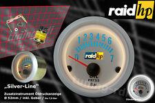 Raid HP 660219 /Öldruckanzeige Zusatzinstrument Silver Line