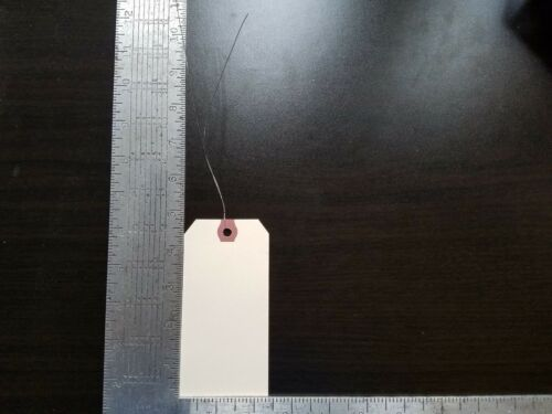"""500-2-3//8/"""" x 4-3//4/"""" WIRED MANILA TAG HANG LABEL SHIPPING INVENTORY STOCK SIZE 5"""
