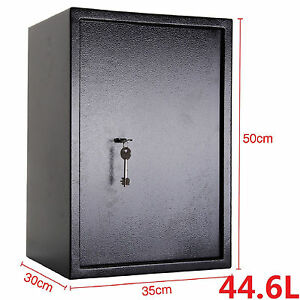 HIGH SECURITY STRONG STEEL SAFES KEY LOCK SAFETY BOX HOME OFFICE MONEY CASH SAFE 7091042412190