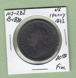 1832-Nova-Scotia-One-Penny-Token-Br870-Fine