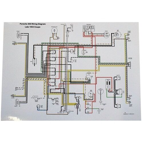 Astounding Full Color Wiring Diagram Porsche Late 1953 356 Pre A Volt Reg On Wiring 101 Breceaxxcnl