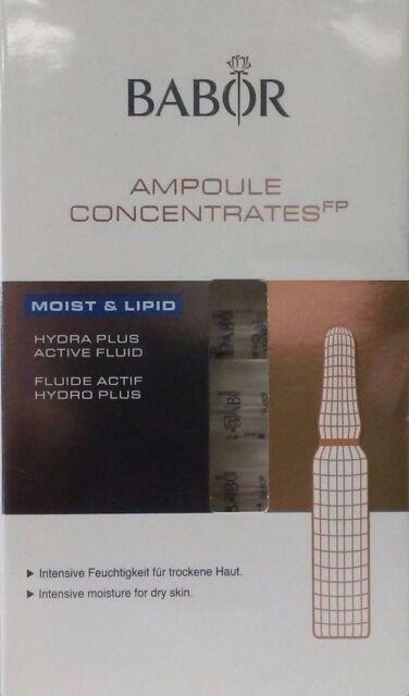 Babor Moist Lipid Hydra Plus Active Fluid 7 Ampoules X 2ml Each Fresh  SEALED