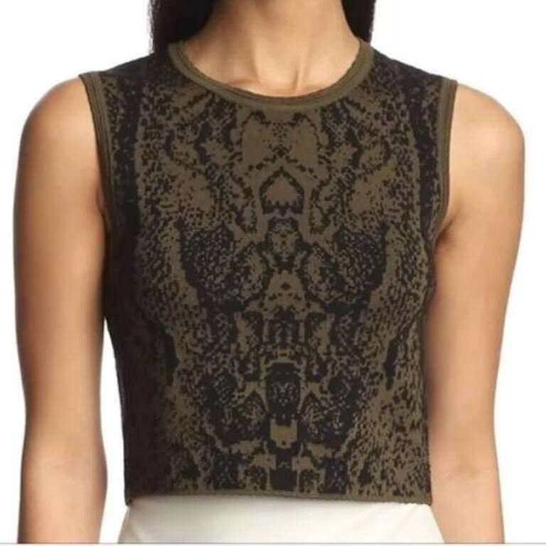 Torn by RONNY KOBO Crop Sleeveless DARCEY Safari TANK Top - FREE SHIPPING