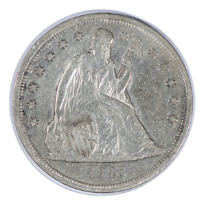 1843-Seated-Liberty-Dollar-Very-Fine