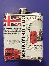 Souvenir Di Londra Acciaio Inox 199ml Fiaschetta Da Tasca, Negozio Britannico
