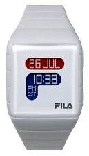Fila Unisex LCD Watch with White PU Strap FL38015001