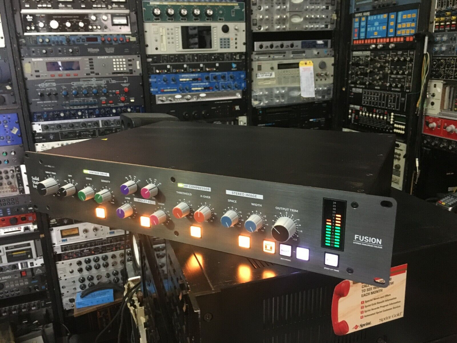SSL FUSION Analog Master Processor  SOLID STATE LOGIC Rack MINT //ARMENS//. Available Now for 2395.00