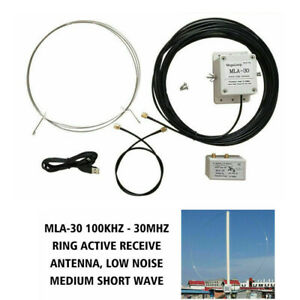 Ring-MLA-30-Active-Loop-Antenna-Amplifier-100kHz-30MHz-For-Short-Wave-Radio-MW