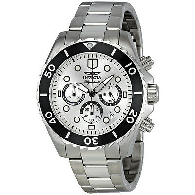 Invicta Signature II Chronograph Steel Silver Dial Mens Watch 7368