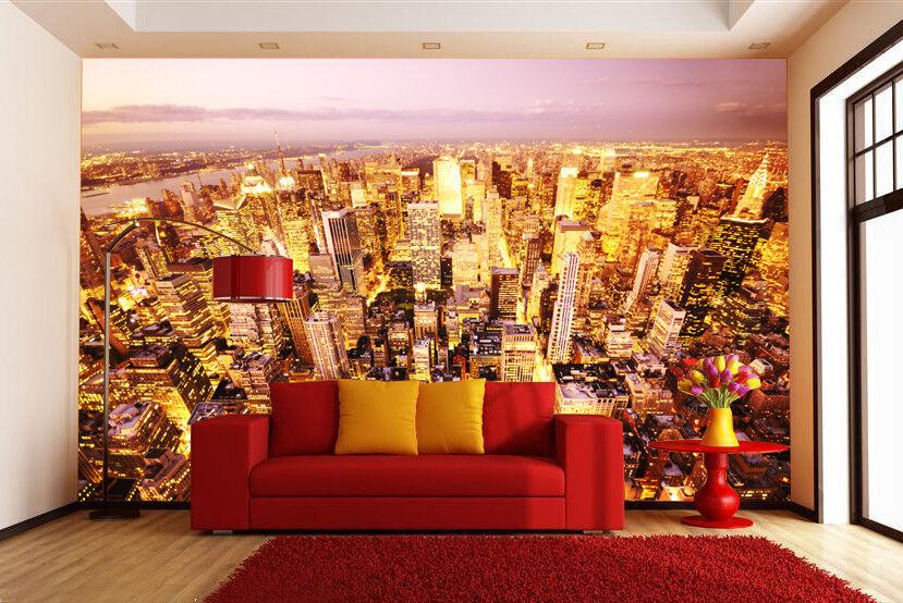 3D Stadt Nacht Lichter  84 Tapete Wandgemälde Tapete Tapeten Bild Familie DE | Online Kaufen  | Großhandel  | Beliebte Empfehlung