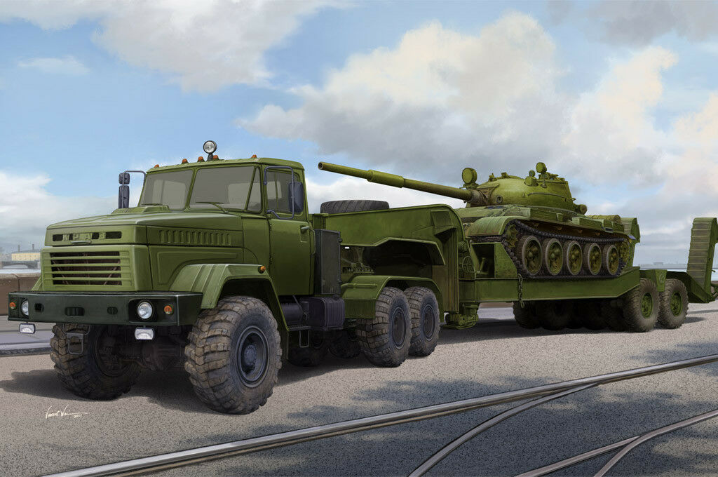 Hobby Boss 1 35 KraZ-6446 Tractor with ChMZAP-5247G
