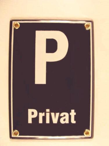 Private P Enamel Enamel Metal Sign