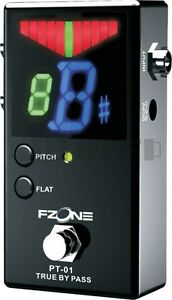 Fzone-PT-01-Pedal-Tuner-For-Guitar-Bass-Chromatic-True-Bypass-LED-Display-Effect