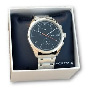 LACOSTE-MEN-039-S-STAINLESS-STEEL-SAN-DIEGO-WATCH-2010918-BLACK-DIAL-FACE-NEW-250