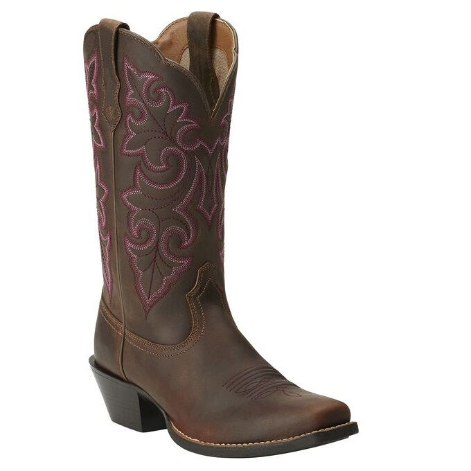 Ariat Ladies Round Up Square Toe Western Boot 10014172 NIB
