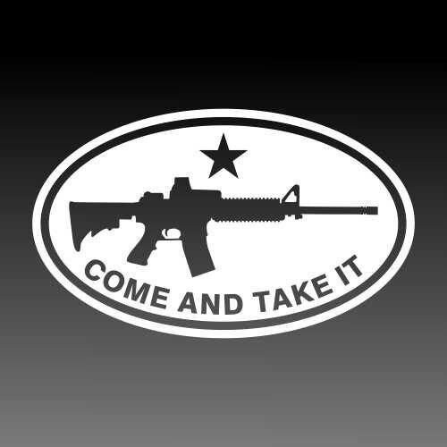 Black Rifle Oval AR Pro 2A Decal American Freedom Hunter Sportsman Sticker