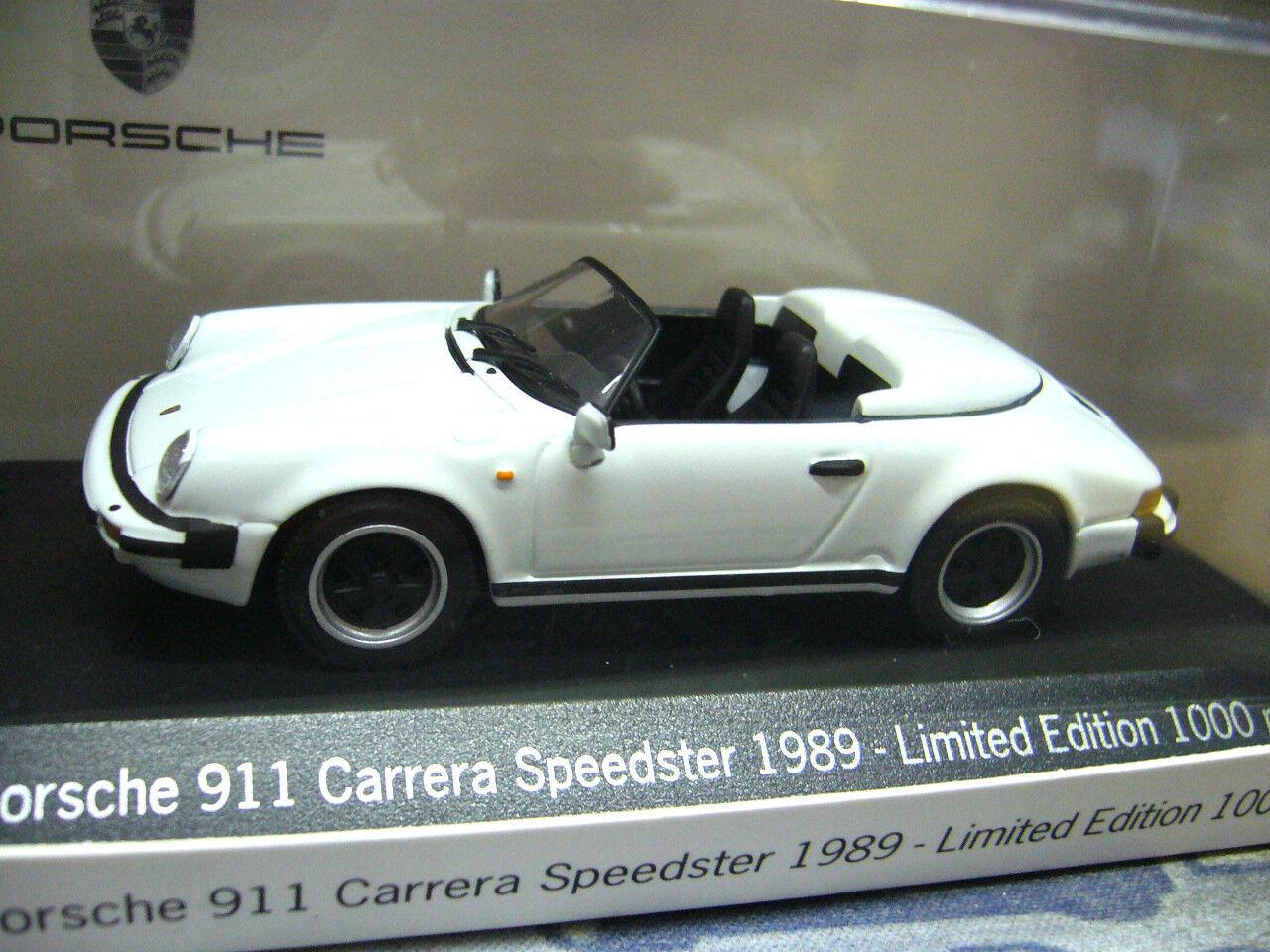 Porsche 911 930 speedster 1989 blanc weiss G modèle Minichamps 1 1000 Lim 1 43