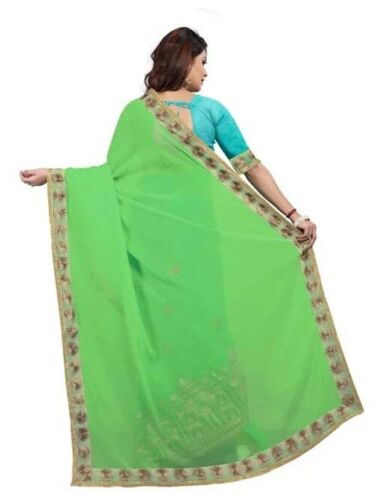 Details about  /Indian Designer Saree Bollywood Pakistani Party Wear Sari with Blouse Piece
