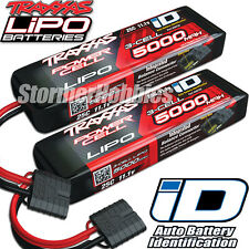Traxxas 11.1V 5000mah 3S 25C LiPO Battery with ID Plug (2) 2872X ~FREE-SHIPPING~