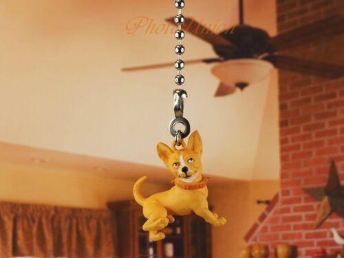 Hood Hounds Killer Chihuahua Dog Ceiling Fan Pull Light Lamp Chain Decor K1285 F