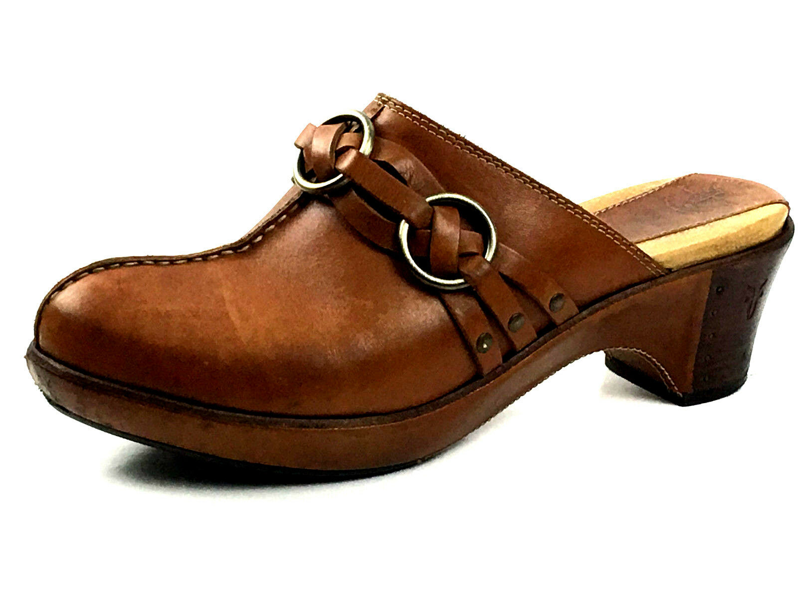 Frye 70121 Women's Clogs Mules Brown Size US.9 UK. 7 EU. 39-40