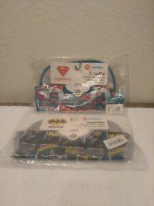 Lot Of 2 New In Plastic Bumkins Waterproof Baby Bibs 6-24M Superman & Batman
