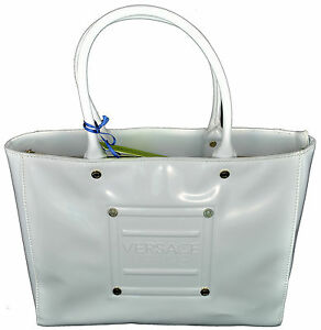 33531848a72dfb Image is loading Borsa-Donna-Shopping-Bag-Bauletto-Vernice-Versace-Jeans-