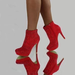 strass sera sexy lusso Scarpe tacco Scarpe di con di design da Stivaletti con alto qgZnIxt5P
