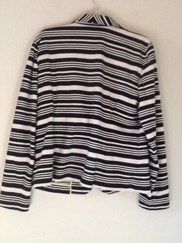 Sort Blazer Loft Xl Stripe Størrelse Stilfuld Jacket Ann Taylor Kvinder Cream wx1qEY6SB