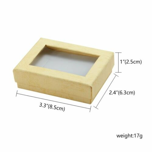 Square Cotton Filled Gift Boxes Jewelry Cardboard Box For Earring Necklace Gift