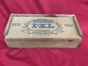Schrade-IXL-Scrimshaw-Limited-Edition-Knives-Sheffield-England-Original-Wood-Box