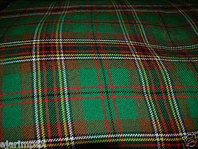 """Acrylic Tartan Fabric Width 53/""""  MacDonald 4 Yard 144/' Long  /& 53/"""" Multi Color"""