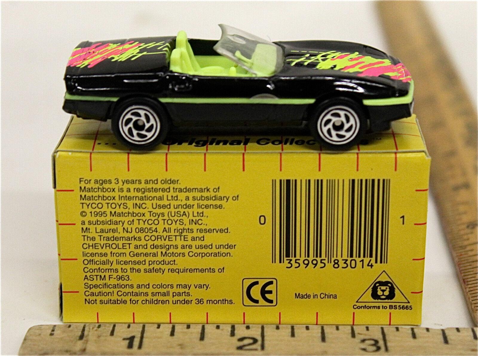 24 24 24 Vintage 1995 Matchbox 1987 Corvette MB 14 Diecast w Tyco Shipping Box NIB 6ea086