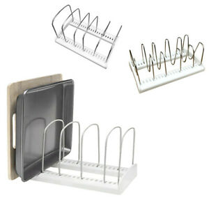 Adjustable-Kitchen-Bakeware-Organiser-Rack-Baking-Tray-Cutting-Board-Storage