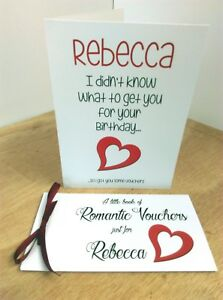 romantic birthday love voucher book coupons card wife girlfriend
