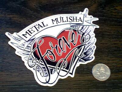 METAL MULISHA Live Fast Die Last Sticker Vinyl Car Window Decal Circus Red Black