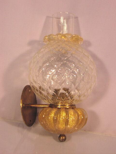 Rare alte Wandlampe Barovier & Toso Murano Italy Italia
