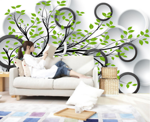 3D Tree Round Ring  7 Wall Paper Murals Wall Print Wall Wallpaper Mural AU Lemon