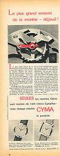 PUBLICITE ADVERTISING 035  1955 CYMA   collection montres CYMAFLEX