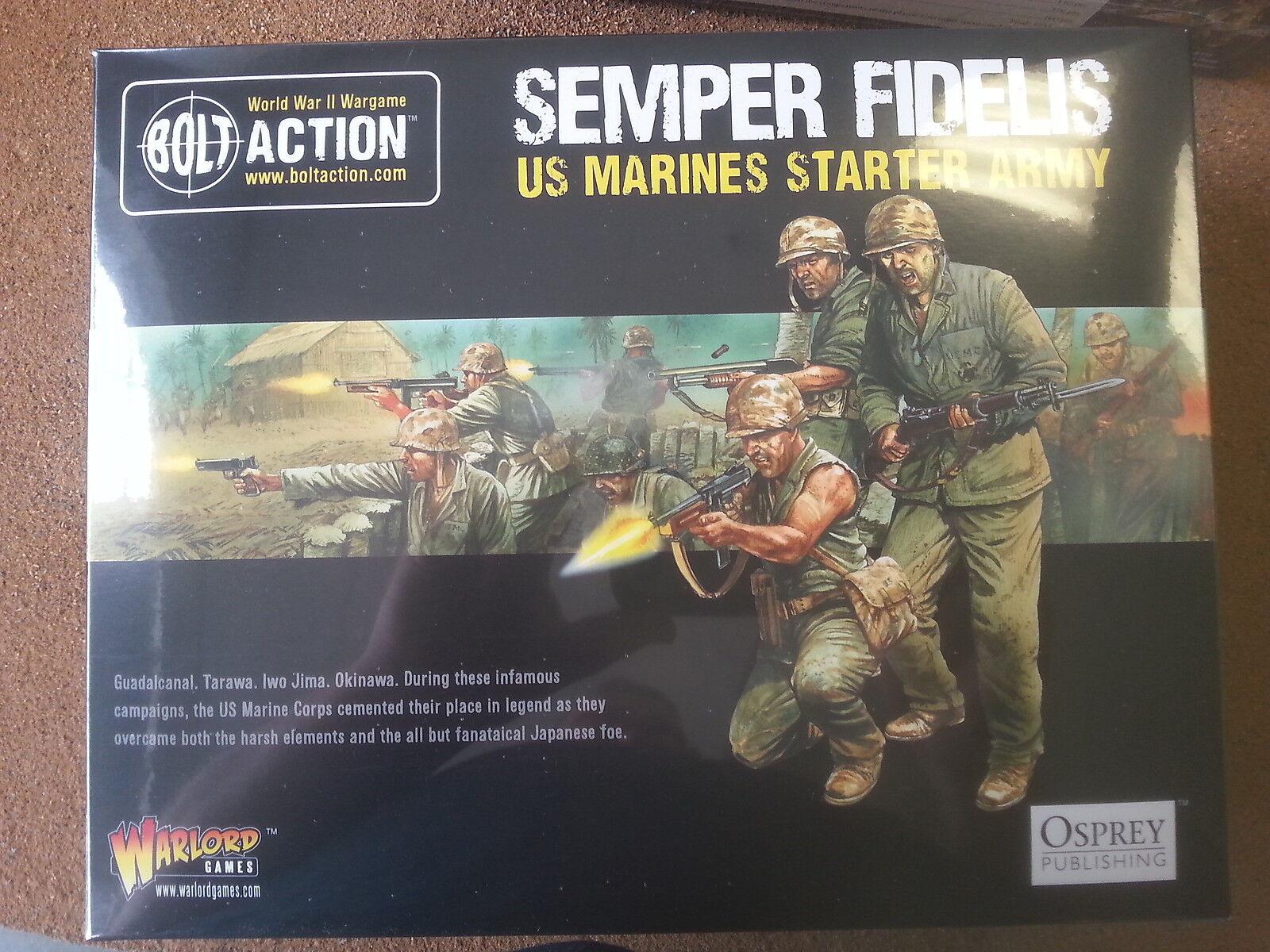 Perno de acción Semper Fidelis XS marines ejército Estrellater Set 999 puntos-Nuevo y Sellado