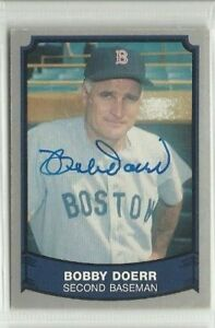 Bobby Doerr 1989 Pacific Legends signed auto autographed card Boston Red Sox