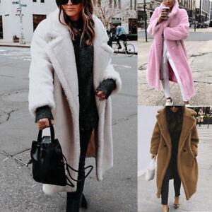 Womens-Lapel-Long-Sleeve-Jacket-Winter-Warm-Faux-Fur-Coat-Outwear-Overcoat-S-XL