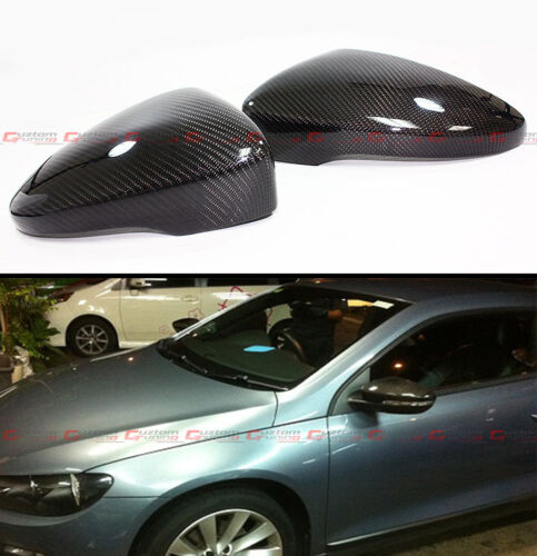 For 2011-16 VolksWagen CC Coupe EOS Carbon Fiber Mirror Cover Direct Replacement
