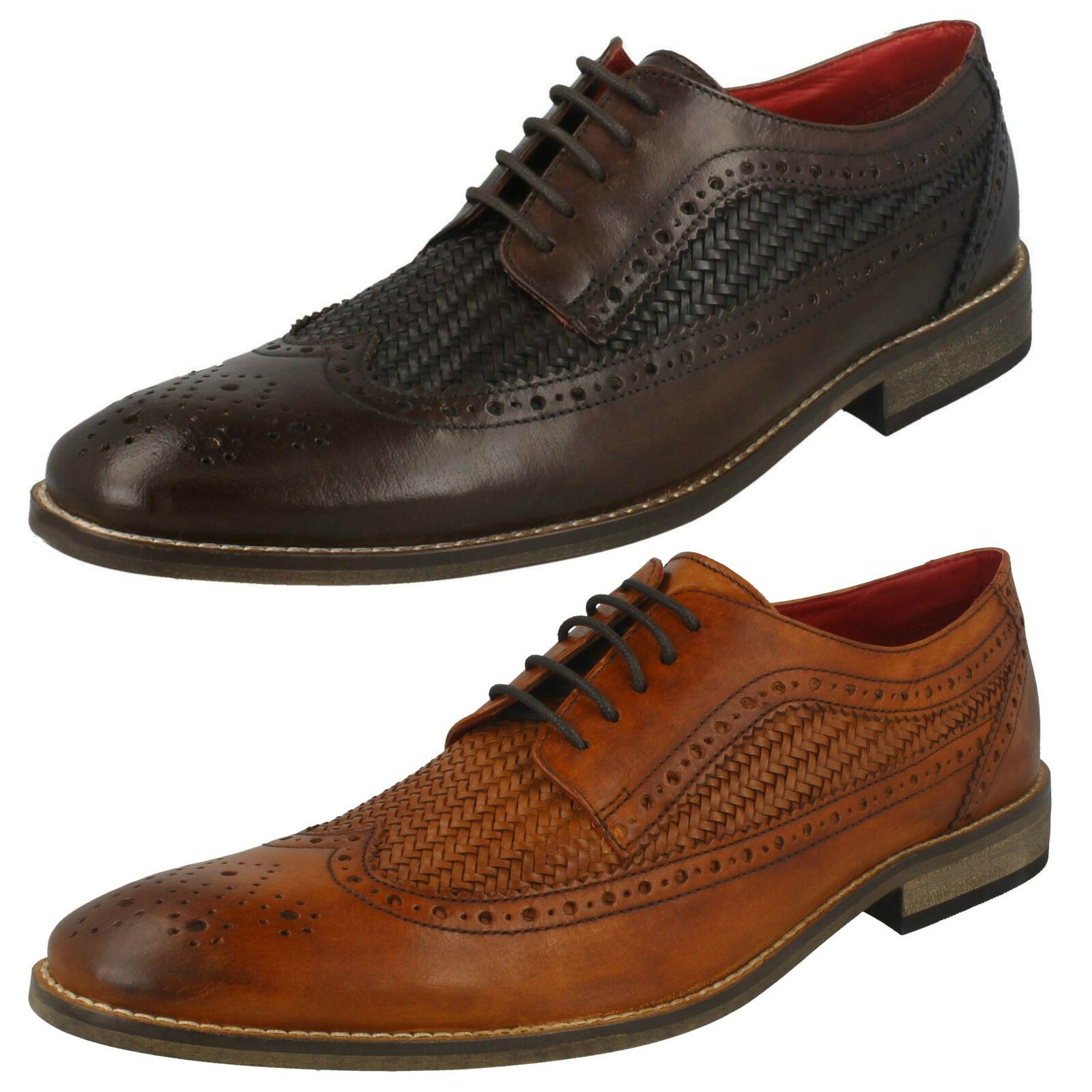 Mens Base London Durham Brown Or Tan Leather Smart Lace Up shoes