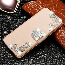 Bling Diamond Magnetic Flip Leather Case Stand Wallet Cover For iPhone 5/5S/SE