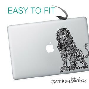 Black-and-White-Great-Lion-Art-Design-Apple-MacBook-Vinyl-Skin-Sticker-Decal